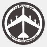 Zeichen des Friedens B-52 Runde Aufkleber