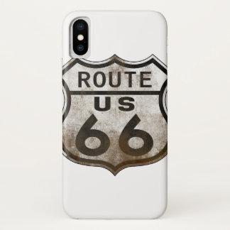 Zeichen des Weg-66 iPhone X Hülle