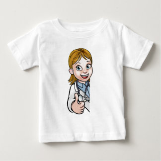 Zeichen Doktor-Thumbs Up Cartoon Character Baby T-shirt