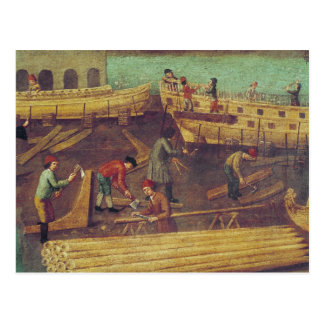 Zeichen für die Marangoni Familie der Schiffbauer Postkarte