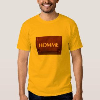 Zeichen Homme/Mann auf französisch Shirts