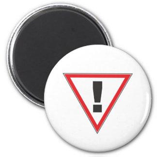 Zeichen sign Ausrufezeichen exclamation mark Runder Magnet 5,1 Cm