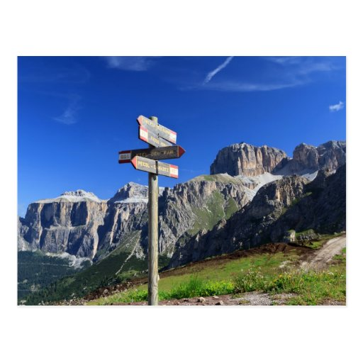 Zeichen und Dolomit Postkarte