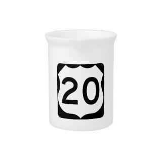 Zeichen US-Weg-20 Getränke Pitcher