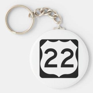 Zeichen US-Weg-22 Schlüsselanhänger