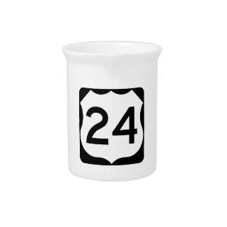 Zeichen US-Weg-24 Krug