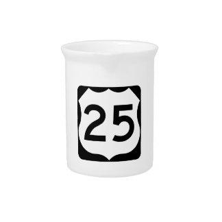 Zeichen US-Weg-25 Krug