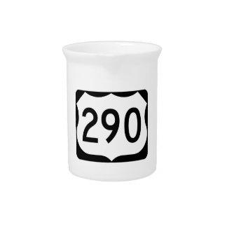 Zeichen US-Weg-290 Getränke Pitcher