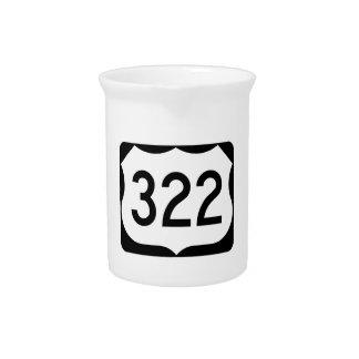 Zeichen US-Weg-322 Getränke Pitcher