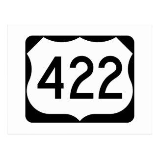 Zeichen US-Weg-422 Postkarte