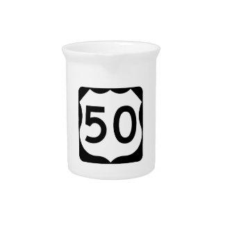 Zeichen US-Weg-50 Getränke Pitcher