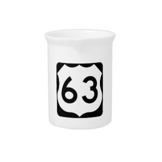 Zeichen US-Weg-63 Getränke Pitcher