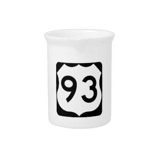 Zeichen US-Weg-93 Getränke Pitcher