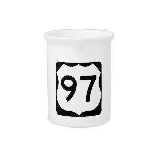 Zeichen US-Weg-97 Getränke Pitcher