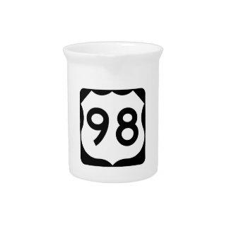 Zeichen US-Weg-98 Getränke Pitcher
