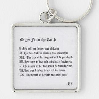 Zeichen von der Erde Schlüsselanhänger