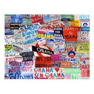 Zeichen von Hoffnungobama-Postkarte Postkarte