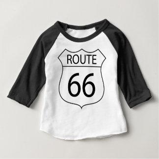 Zeichen-Zeichnen des Weg-66 Baby T-shirt
