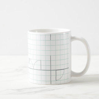 Zeichenpapiers- mit Maßeinteilungentwurf Kaffeetasse