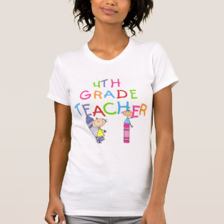 Zeichenstift-4. Grad-Lehrer-T - Shirts und