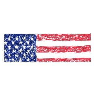 Zeichenstift farbige amerikanische Flagge Mini-Visitenkarten