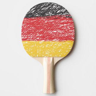 Zeichenstift farbige deutsche Flagge Tischtennis Schläger