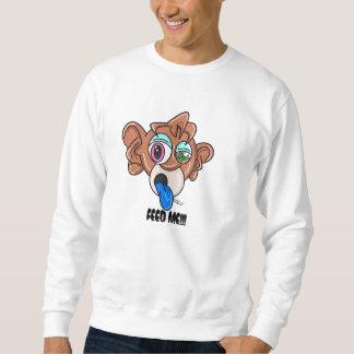 Zeichenstift-Stadt-Affe-Geld-Strickjacke Sweatshirt