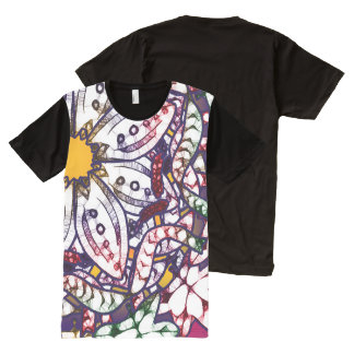 Zeichnen auf Natur-übergroßer Grafik durch Aleta T-Shirt Mit Bedruckbarer Vorderseite