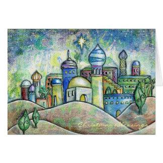 Zeichnen der Bethlehem-Weihnachtskarte Karte