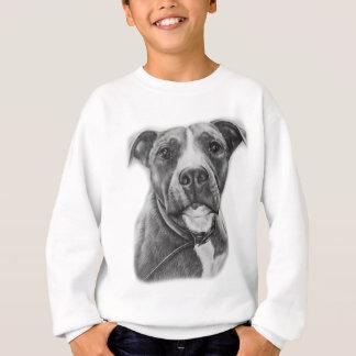 Zeichnen der Gruben-Stier-Hundetier-Kunst Sweatshirt