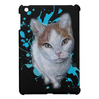 Zeichnen der Katzen-Kunst mit blauem Farben-Kasten iPad Mini Hülle