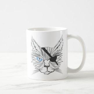 Zeichnen der Piraten-Katze #1 Kaffeetasse