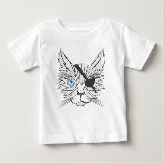 Zeichnen der Piraten-Katze Baby T-shirt