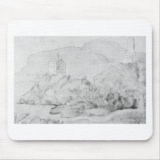 Zeichnen der Schlösser von Alsacien Ortenberg Mousepad