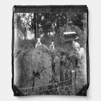 Zeichnen der weißen und schwarzen Schafe Sportbeutel