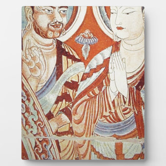 Zeichnen der zentralen asiatischen buddhistischen fotoplatte