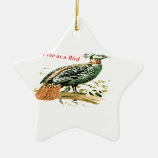 Zeichnen des Fasans frei als Vogel Keramik Ornament