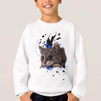 Zeichnen des Kätzchens als Katze mit Farben-Kunst Sweatshirt