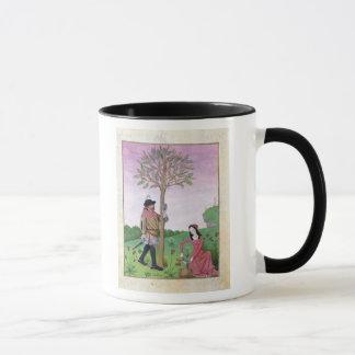 Zeichnen des Safts von einem Baum Tasse