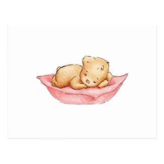 Zeichnen des Schlafenteddy-Bären Postkarte