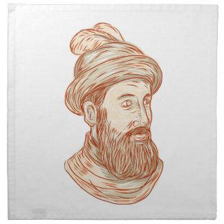 Zeichnen Francisco-Pizarro Stoffserviette