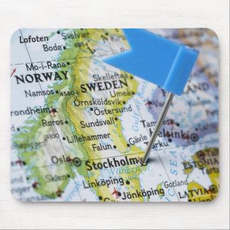 Zeichnen Sie das Button auf, das auf Stockholm, Mousepads