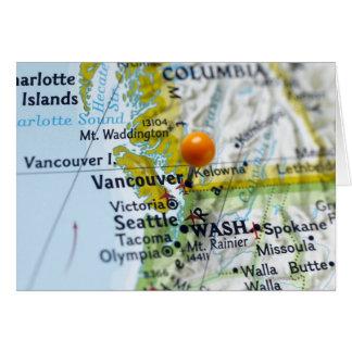 Zeichnen Sie das Button auf, das auf Vancouver, Karte