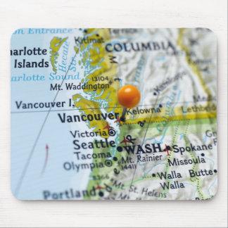 Zeichnen Sie das Button auf, das auf Vancouver, Mousepads