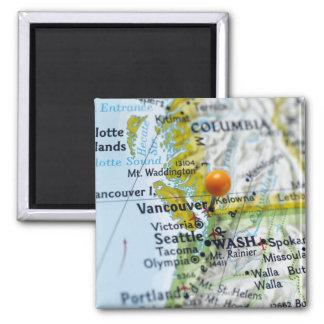 Zeichnen Sie das Button auf, das auf Vancouver, Quadratischer Magnet