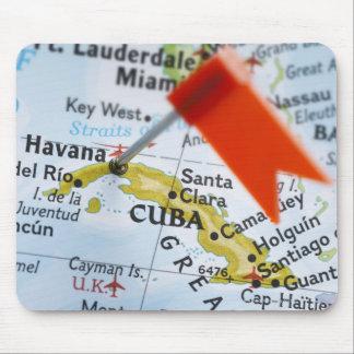 Zeichnen Sie das Button auf, das in Havana, Kuba Mousepad