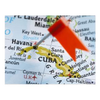 Zeichnen Sie das Button auf, das in Havana, Kuba Postkarte