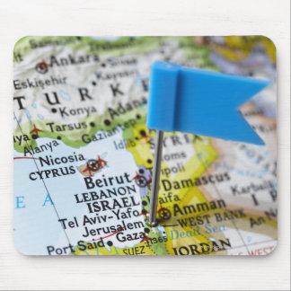 Zeichnen Sie das Button auf, das in Jerusalem, Mauspad