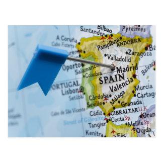 Zeichnen Sie das Button auf, das in Madrid, Postkarte
