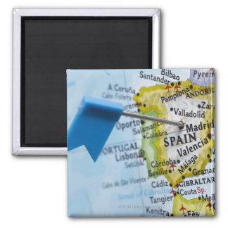Zeichnen Sie das Button auf, das in Madrid, Quadratischer Magnet